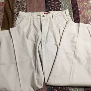 Men's khaki pants worn once